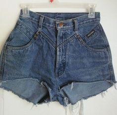 VTG Womens ROCKIES Denim High Waisted Cut Off Jean Shorts Festival RETRO #Rockies #Denim
