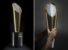 Michael Gericke and his team have designed the new College Football Playoff National Championship trophy. Photos by Joe Faraoni/ESPN Images.