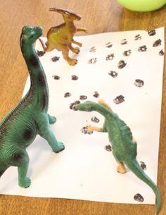 Dinosaur Tracks Matching Activity - What dinosaur made what tracks?