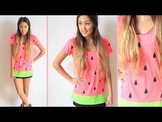 Last Minute DIY Halloween Costume: Watermelon! - YouTube
