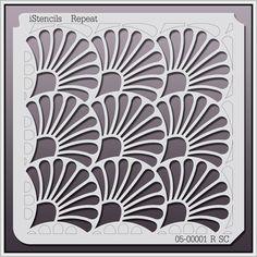 05-00001 R SC Shell Repeat Stencil