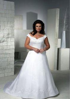 hors le satin de train chapelle épaule, plus robe de mariée taille