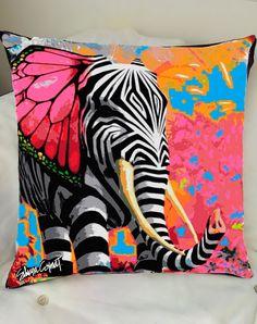 Cushion Cover Elefante Mariposa