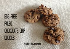 Paleo Chocolate Chip Cookie Recipe from Jill K Fitness