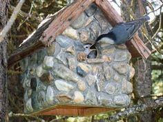 Stone Bird House from Flea Market Gardening