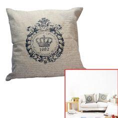 Vintage Bed Sofa Car Crown Pattern Throw Cushion Pillow Case Cover Home Decor #UnbrandGeneric