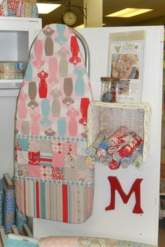 covered mini ironing board