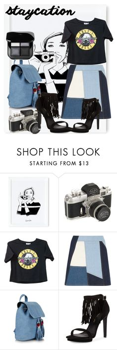 """""""Enjoy the staycation days!"""" by darcylee on Polyvore featuring Rifle Paper Co, Victoria, Victoria Beckham and Pelle Moda"""
