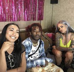 Lani with Lil Uzi Vert and Noodz❤ Caviar, Lil Uzi Vert Style, Kehlani Parrish, Rae Sremmurd, Rapper Art, Lil Yachty, I Luv U, Man Crush Everyday, Celebs