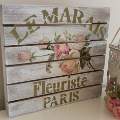 Decoration Shabby, Wooden Words, My Works, Elsa, Decorative Boxes, Signs, Painting, Instagram, Home Decor