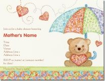 baby shower teddy bear Invitations & Announcements