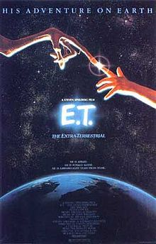 E.T. phone home.... I remember going to the Drive-In Theater in Westport to see this.  Mom made a huge grocery bag (one of the brown paper bags) full of homemade popcorn ( not the microwave stuff) to take with us.  Fun times,  sitting in the car,  on the hood of the car or in lawn chairs to watch the movie. It was awesome!