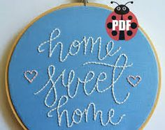Image result for hand embroidery patterns of houses