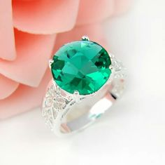 Green Topaz Sterling Silver Ring Green Topaz 925 Sterling Silver Ring. Stone Size: 13x13 mm Ring Size: 9 Jewelry Rings