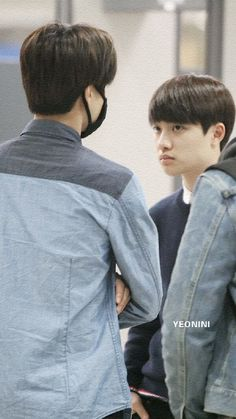 Kyungsoo doesn't look very happy with Kai....