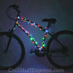 CosmicBrightz Micro LED Battery Operated Bike Lights Multicolored