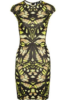 Butterfly Camouflage printed jersey dress  by McQ Alexander McQueen