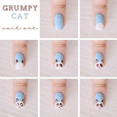 Nail art: Grumpy Cat