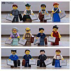 A better view showing the variety of our Lego gifts. The plan is to let delegates choose a figure as they load the bus.  ༺♥༻   JW.org has the Bible and bible based study aids to read, watch, listen and download in 300+ (sign included) languages. They also offer free in home bible studies.  All at no charge.