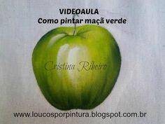 Dicas de pintura grátis - Como pintar maçã verde