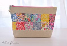 Liberty Zipper Pouch Great idea for using up scraps of material.