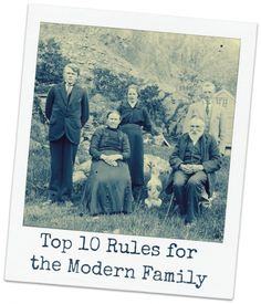 Top 10 rules for the modern family   BabyCentre Blog