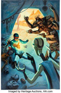 Original Comic Art:Covers, Steve Rude Nexus: The Wages of Sin #1 Cover PaintingOriginal Art (Dark Horse, 1995) - W.B.