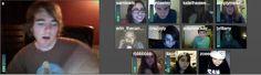 I met Rebecca Black and Shane Dawson on Tinychat.