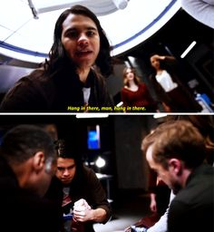 """Hang in there, man"" - Cisco, Jesse, Iris, HR and Julian #TheFlash"