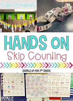 Over the past few weeks my firsties have been working hard on their skip counting skills. This is such a tricky concept for them to grasp. We started our week off by counting by and making… Teaching Numbers, Math Numbers, Teaching Math, Teaching Ideas, Teaching Tools, Skip Counting Activities, Math Activities, Math Games, Counting In 2s