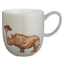 Buy Avenida Home Puddin' Head Rhino Mug, Grey Online at johnlewis.com