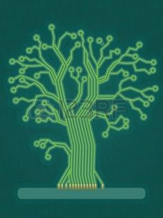 Illustration of Blue Technology Tree/Circuit Board vector art, clipart and stock vectors. Circuit Board Design, Tech Branding, High Tech Gadgets, Hobbies And Interests, New Energy, Start Up Business, Visual Identity, Art And Architecture, Vector Art