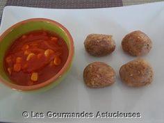 Boulettes de sarrasin et sauce épicée au maïs