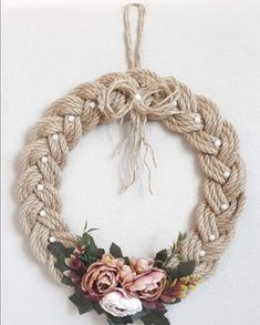 Diy Crafts - decoracion-things to make - Gifts things to make - Gifts macrame macrame decoracion Burlap Crafts, Wreath Crafts, Diy Home Crafts, Diy Arts And Crafts, Diy Wreath, Grapevine Wreath, Western Wreaths, Western Decor, Christmas Crafts