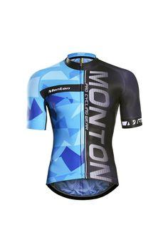 Monton 2016 Cool Cycling Jersey Short Sleeve Black Blue