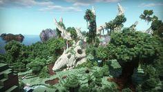 Forest of Deer Skulls : Minecraft Minecraft House Plans, Cute Minecraft Houses, Minecraft House Designs, Amazing Minecraft, Minecraft Blueprints, Minecraft Creations, Minecraft Images, Minecraft Art, Minecraft Crafts