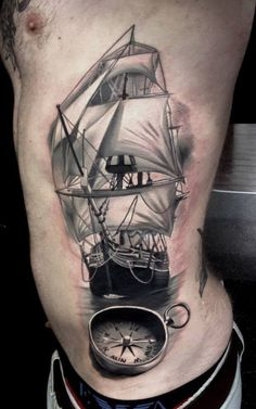 What does ship tattoo mean? We have ship tattoo ideas, designs, symbolism and we explain the meaning behind the tattoo. Arrow Tattoos, Foot Tattoos, Arm Tattoo, Ankle Tattoos, Tiny Tattoo, Tattoo Flash, Temporary Tattoos, Small Tattoos, Compass Tattoo