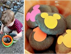 Several great ideas to get your kids outside and playing with rocks!