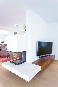Fireplace # living room fireplace - Home Page Modern Fireplace, Fireplace Wall, Living Room With Fireplace, Living Room Partition Design, Room Partition Designs, Living Room Modern, Living Room Designs, Living Room Decor, Glam Room
