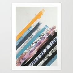 STRIPES1 Art Print by Brandon Neher - $22.88
