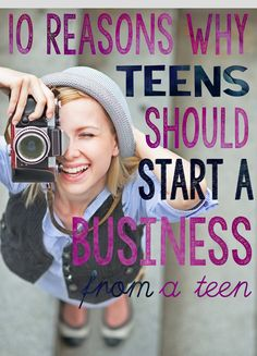 Does your teen need an income? Do they need to learn time management and better communication skills. These qualities and more can be learned as they run their own business. Take a look at the list of 10 Reasons Why Teens Should Start a Business by hom Homeschool High School, Homeschool Curriculum, Parenting Teens, Parenting Hacks, Teenager Jobs, Teen Jobs, Finanz App, Teen Entrepreneurs, Jobs For Teens