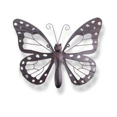 Decorative Metal Butterfly Garden Wall Art Black / Brown Finish For The Home #homedecor #homeideas www.home33accessories.co.uk