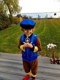 Chase is on the case - Paw Patrol Halloween outfit