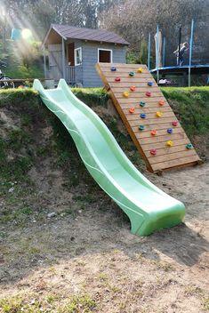 Backyard Slide, Sloped Backyard, Sloped Garden, Backyard Games, Backyard Projects, Outdoor Play Structures, Outdoor Play Areas, Steep Gardens, Outdoor Fun For Kids