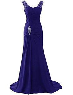 44622745ee7 Superbe robe de soirée Orientale sans manche en mousseline de soie. La robe  est d un bleu roi éclatant et les épaules sont ornés de strass brillant qui  ...
