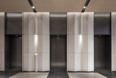 Showroom Interior Design, Lobby Interior, Modern Interior Design, Luxury Interior, Lift Design, Wall Design, Shading Device, Elevator Design, Elevator Lobby
