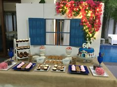 Mamma Mia Mel at 60! Styling by Red Apples and Glass Slippers - RAGS MNL #mammamia #eventstyling #blueandwhite #greek