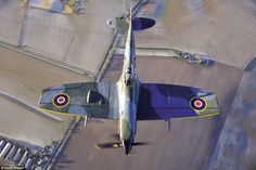 Magnificent men: A Spifire in the Battle of Britain Memorial Flight is pictured. Photographer Keith Wilson was given full official access to the Flight to give a pictorial insight