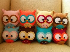 Custom Mini Plush Owl Toy by HollyGoBrightly on Etsy, £7.00. @ Gina barnaby !!!!!!!!