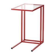 VITTSJÖ Tietokonepöytä - punainen/lasi - IKEA